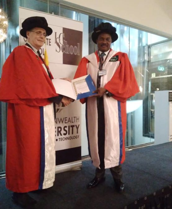 Presentation of Awards to Professor Adebayo Paul by London Graduate School, United Kingdom and Commonwealth University, United Kingdom.
